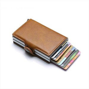 2020 Unisex Metal Blocking RFID Wallet ID Card Case Aluminium Travel PurseWallet Business Credit Card Holder Wallet