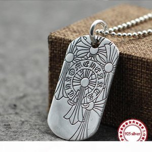 s925 sterling silver pendants personalized classic retro jewelry hip-hop fashion hollow cylindrical vine flower modeling punk 2019 new gift