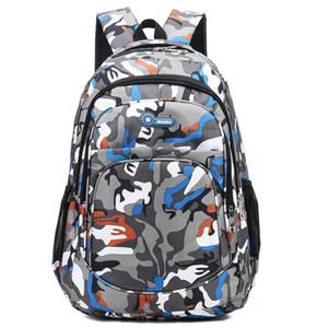 Создать- Камуфляж Студент Мода полиэстер мультфильм печати Рюкзак большой емкости водонепроницаемый рюкзак Отдых Туризм сумка