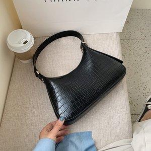 Kadınlar Omuz Çantası Timsah Desen Tek Omuz Baget 2020 Klasik Chic PU Deri Temizle Çanta Çanta Tasarım Çanta Brief