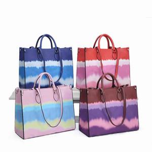 Высочайшее качество M45120 Новые женщины окрашивания процесса большие сумки сумки кошельки цветок PU кожаные сумки поперечины сумка леди леди леди