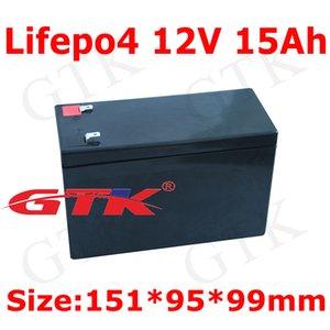 GTK 1pcs lifepo4 12v 15Ah 12.8V caso bateria AGM / VRLA / SLA bateria para poder 100w RC baitboat Liderados carro de brinquedo luz + 3A Carregador