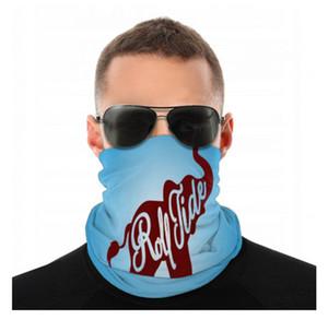 NCAA Alabama Crimson Tide Senza soluzione di continuità Geater Scudo Sciarpa Bandana Face Mask Protezione UV Moto Cycling Geight Running Fandbands