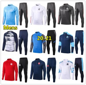 Novo treino de futebol real madrid psg inter milão Men 20 21 Marseille ac milan football training 2020 2021 soccer tracksuit