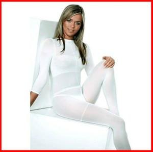 MOQ 10 PCS !!! Weiß / schwarz LPG Körper Rollenmassage Kostüm Vakuumanzug für Velashape Therapie Maschine hohe Elastizität weich bekleiden CE / DHL