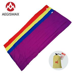 AEGISMAX Открытый кемпинга Конверт спальный мешок Liner Портативный Ultralight для Summer Travel Hotel Isolation Грязного спальный мешок Вспомогательное оборудование
