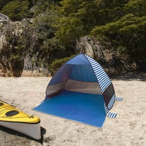 Camping Folding Beach Tent Instant Open Tourist Sun Shelter Outdoor Automatic for Family Outdoor Camping Accessory