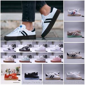 Mens Samba stieg Gazelle Klassische Schuhe hoher Qualität grün schwarz blau rot rosa weiß Frauen Leichte Kursteilnehmer RM Freizeitschuhe