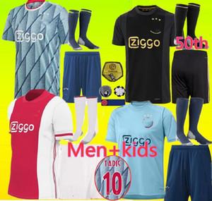 50th Ajax FC Soccer Jersey دي جونغ تاديك دي Ligt Ziyech Van Beek Neres الكبار والأطفال تايلاند 2019 2020 2021 كرة القدم جيرسي