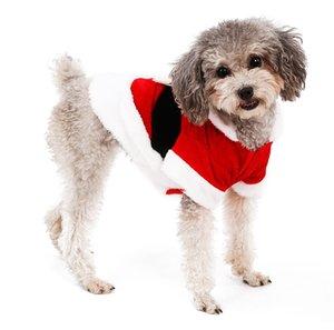 Chien Père Noël Costume Hoodie vêtements pour animaux de Noël Manteau de renne Animaux de vacances pour vêtements de chien, chiot de chat