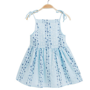 Clearance Excelent New Summer Dress Mesh Girls Toddler Baby Girl Solid Flower Striped Princess Party Dress Sundress Clothes Z0205