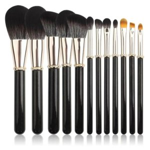 12PCS Foundation Cosmetic Eyebrow Eyeshadow Brush Makeup Brush Sets Tools LE