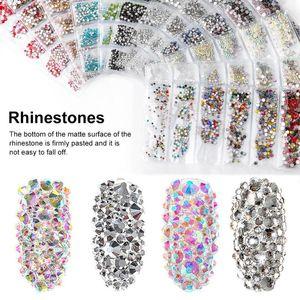 1440pcs Nail Rhinestones Glass Nail Art Rhinestone Set Gems Crystals Rhinestones For Nails And Phone Case Clothing Decor