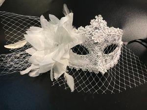 Designer Designs maschera italiana travestimento Halloween Party di Natale piuma principessa Veil Masquerade diretta Tik Tok