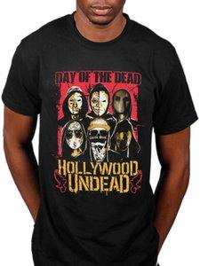 Официальный Hollywood Undead DOTD Лица T-Shirt Swan Songs V Американская трагедия Группа с коротким рукавом шею майка Promotion