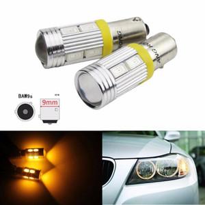 ANGRONG 2x Yüksek Güç HY21W BAW9s 12146 LED Işık 10SMD 5630 LED Ön Gösterge Ters Ampuller Amber 12V