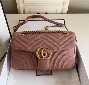En kaliteli 5colors Ünlü marka kadın tasarımcı Omuz çantası deri zincir çanta Çapraz vücut Saf renk Womens çanta crossbody çantası çanta