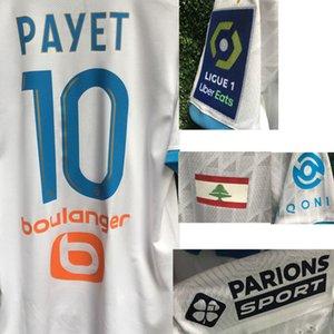 2020 OM Payet Benedetto Lübnan Bayrağı için Onur Beyrut Blast Thauvin ALVARO RONGIER WIth Tam Sponsoru Futbol Patch ile Maillot'a