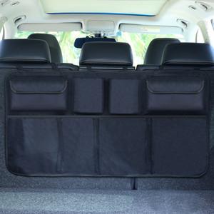 Автомобильный багажник Организатор Регулируемый BackSeat Сумка для хранения Чистая высокая емкость Многопользовательский Оксфорд Автомобильные сиденья Организаторы Организаторы Универсальные