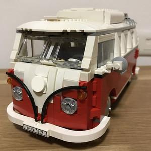 10569 21001 T1 Camper Van Classic Modèle de bus 1342PCS Créateur Créateur Blocs de construction Jouets Compatible avec 10220 Cadeaux de Noël
