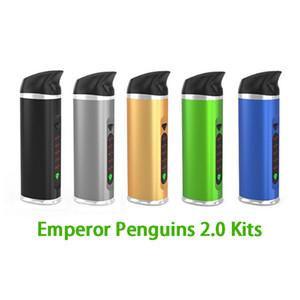 Quente Imperador Pinguins 2.0 Versão Vaporizador Seco Herb Caneta Dab 2200mAh Controle de Temperatura Seco Herbal Vape G Starter Kits DHL