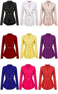 Mulheres Blazers Plus Size Tops Jacket Coats Vestuário gótico Abotoamento V Neck Feminino Hot Sale