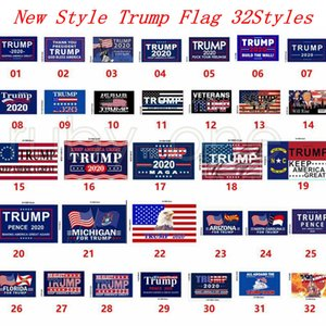 Neue Styles Trump Flag 90 * 150cm Amerika-Flagge Trump 2020 Keep America Große Flagge USA-Präsidentschaftswahl Flaggen DHL Verschiffen RRA3635