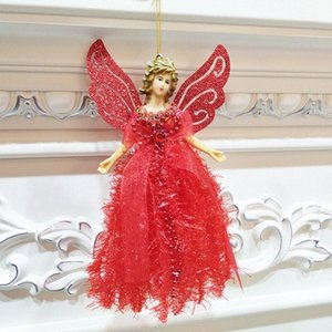 Bonito do Natal do anjo Decoração Com corda pendurada árvore de Natal Portátil decoração decorações de Natal barato barato online Christma I7xD #