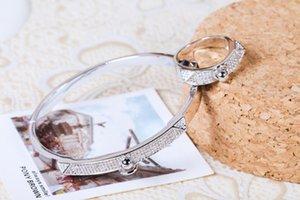 High quality and density small diamond bracelet womens bracelets rings fashion nail bracelet jewelry silver rose gold friendship bracelets
