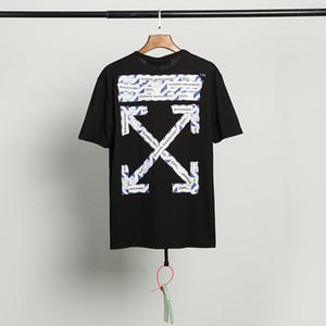 Gelgit marka KAPALI 20SS BEYAZ havaalanı etiket kısa kollu tişört OW erkekler ve kadınlar çift aşınma gevşek hip hop TEE0JSPLVAS