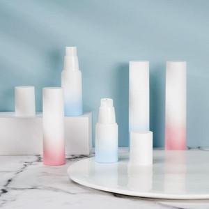 20ml 30ml 50ml white gradient color press-packed plastic emulsion spray airless bottle SN4705
