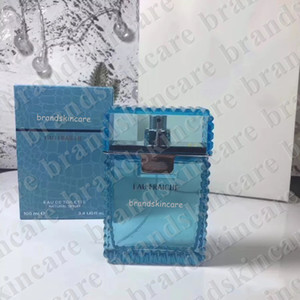 2020 Man Eau Fraiche 100ml 3.4fl.oz Long Lasting buon odore Eau De Toilette EDT Profumo Spray Blue Bottle libera la nave