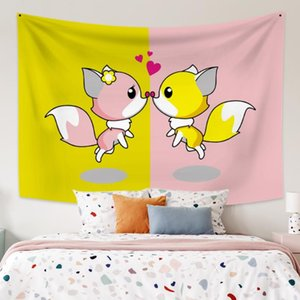 Cassisy Tapestry Cute Creative Artwork Wall Hanging Tapestries Decor Carpet Wall Cloth Beach Towel Home Decorations