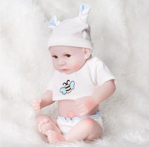 Completo Cuerpo Silicona Reborn Baby Muñecas Reborn Baby Dolls Hecho a mano Reborn 11 pulgadas Real Mirada Recién Nacido Bebé Niña Silicona Muñeca Realista
