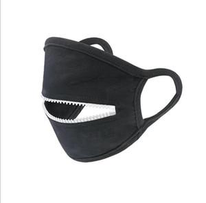 Дизайнерские маски Молния Женщины Человек Велоспорт Защитная крышка Mouth Fashio Тонкий Suncreen маска Solid пыле дышащий OWA741