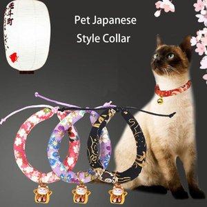 Уникальный японский стиль ручной работы Регулируемая кота собаки Воротник мягкий материал с милой Фортуна Cat Design Doggy Воротник Pet Принадлежности
