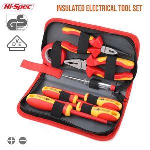Hi-Spec 8pc VDE 1000 V Aprobado herramienta de electricista aislado conjunto S2 magnéticos alicates de corte de cinta Juego de destornilladores eléctricos probador