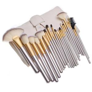 Mybasy Makeup Brush Professional Beige 24pcs Makeup Brushes Sets Cosmetics Foundation BB Cream Powder Blush Brushes