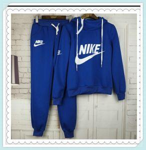 Hot Sale Männer Frauen Sport Anzug Hoodies + Pants 2 Stück Woman Jogging-Anzüge Trainingsanzug Frauen sweatsuits Trainingsanzüge 2020 femme Kleidung