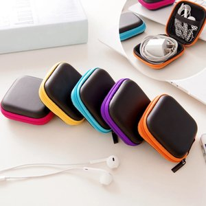 Headphone Caso PU Leather Earbuds Bag Mini Zipper fone de ouvido USB Box Protecção Organizador Fidget armazenamento Spinner Cabo Bags 5 Color HWE905
