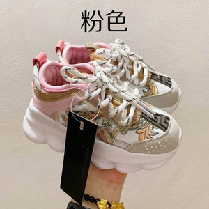 2020 Große Kinder Kinder Designer-Schuhe Mädchen Spielzeug Kleinkind Chain Reaction Designer-Turnschuhe Sport beiläufige Art und Weise Plattform Schuhe Trainer 26-35