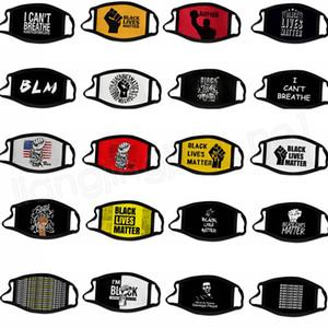 40style siyah hayatları olsun George Floyd Yetişkin toz geçirmez Yıkanabilir Tasarımcı Pamuk Kapak GGA3690-7 Maske BLM Yüz Maskeleri Breathe Cant Maske