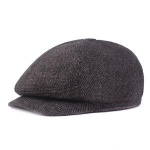 chapéu q2hC2 inverno chapéu pontudo de meia-idade atingiu o pico dos homens espinha espinha Aqueça Beret inverno cap boina Pointed pico me KrD0E de meia-idade