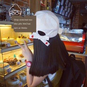 Корейской Вышитой бейсболка ulzzang простого хип-хоп сладкий случайный корейский стиль вся-матч вышитой любовь шнуровки бейсболка женская шляпа