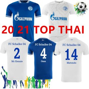 2020 2021 Schalke 04 Soccer Jerseys Home Away 20/21 Camiseta de futbol Serdar Ozan Harit Raman Bentaleb MC Kennie Football Shirts