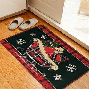 1 Pc Carpet Christmas Kitchen Mat Floor Cartoon Carpet Kids Room Small Rug Living Room Wc Doormat Bath Decor Pad Q