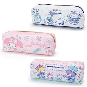 Cute Cartoon Cinnamoroll My Melody School Pencil Case Pen Bag for Girls Kids Women Small Make Up Pouch Storage Cosmetic Bag