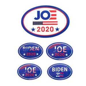 도매 10 * 15cm 고품질 미국 2020 바이든 대통령 선거 페이스 자동차 타원형 접착 스티커 재고 있음