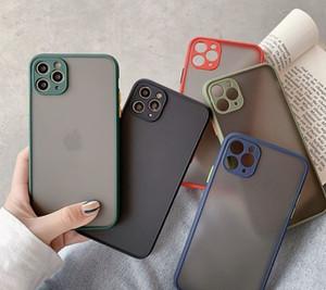 DHL 100 шт. Чехол для телефона для iPhone 11 Pro Max X XR XS MAX 7 I8 плюс роскошные контрастные цветовые рамки Matte жесткий ПК защитный для iPhone 11