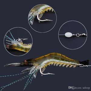 90mm 7g simulação macia camarão camarão pesca flutuante em forma de gancho isca isca biônico camarão artificial iscas com gancho 10pcs 2508037